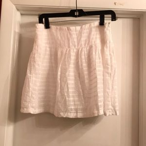 Old Navy white cotton skirt Lined Sz 6